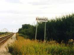 Kavanagh Block on CP Rail, Kavanagh Alberta, south of Edmonton, 8/99