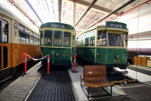 Trams 164 and 613