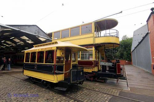 Chesterfield Trams lined up